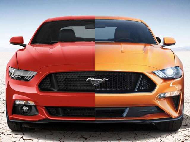 2017 Vs 2018 Mustang >> 2018 Ford Mustang Vs 2017 Mustang A Side By Side