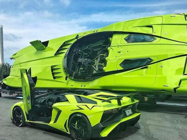 Lamborghini Aventador Sv And Matching Speedboat On Sale For 2 2m