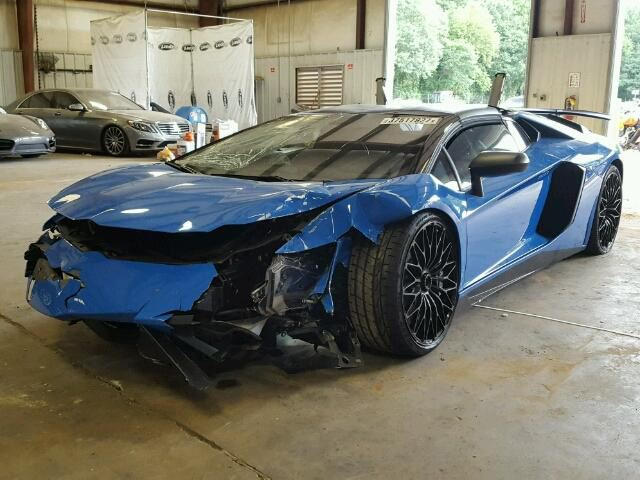 This Poor Aventador Sv Was Wrecked With Only 73 Miles On The Clock