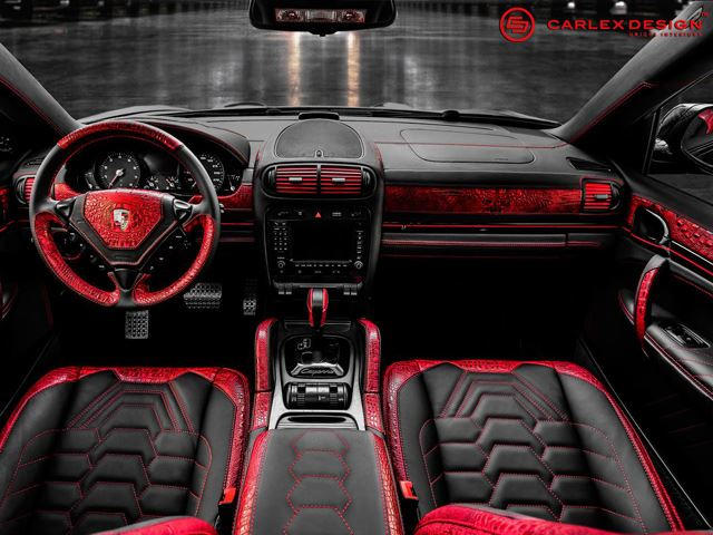Carlex Design Red Crocodile Leather Porsche Cayenne Carbuzz