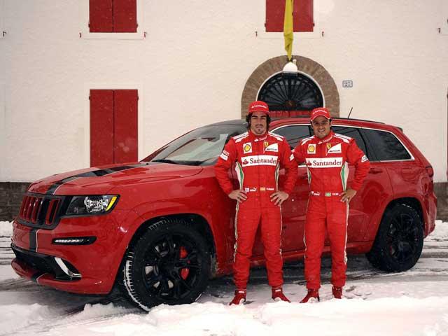 Ferrari,Themed Jeep Grand Cherokee SRT8 for Massa and Alonso