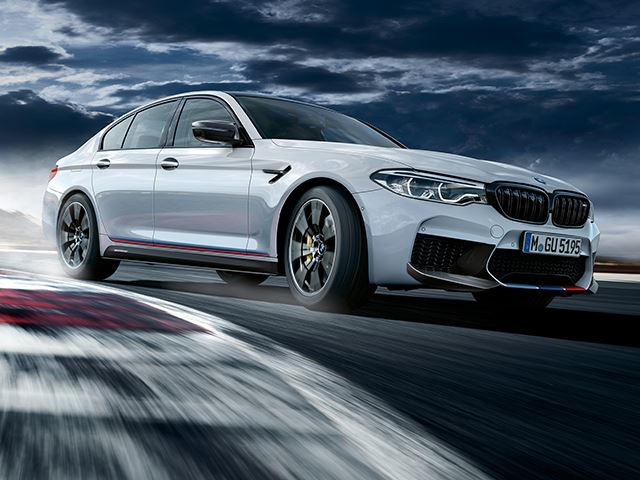bmw m5 receives sporty makeover using m performance parts carbuzzwe recently got a preview of the f90 bmw m5 with m performance parts slapped on it when the new motogp m5 safety car was revealed