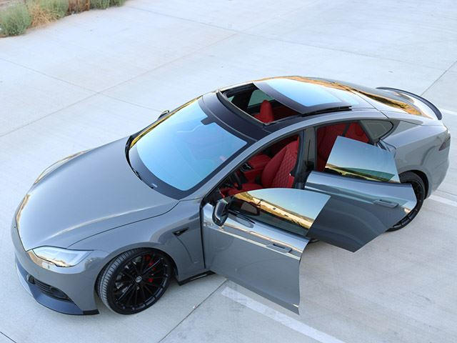 The Paint Job On This Modified Tesla Model S Costs $40,000 | CarBuzz