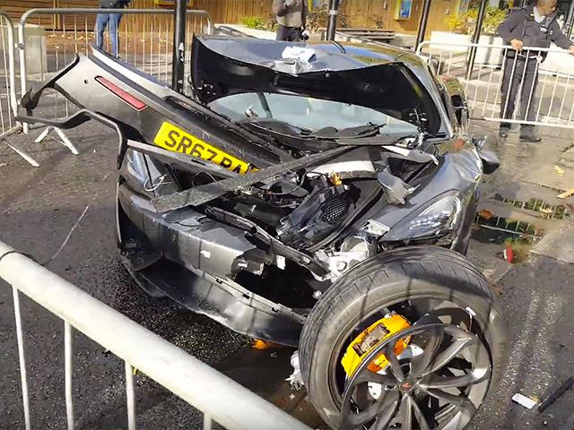 McLaren 570S Reduced To Mangled Wreck In London Crash | CarBuzz