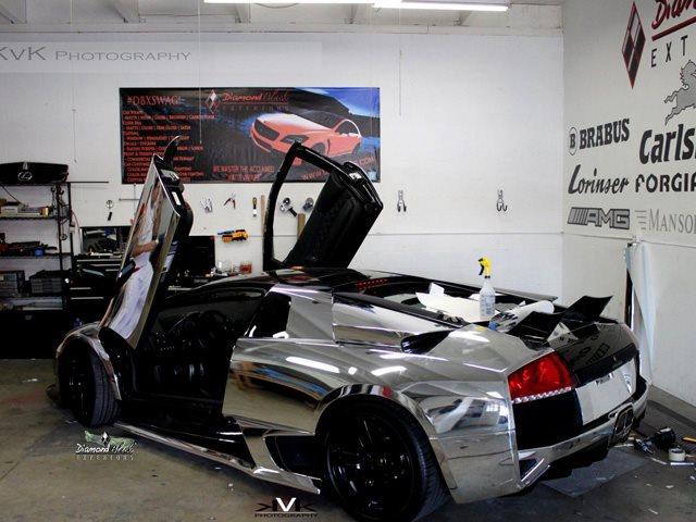 Silver Chrome Lamborghini Murcielago Not Owned By Justin Bieber