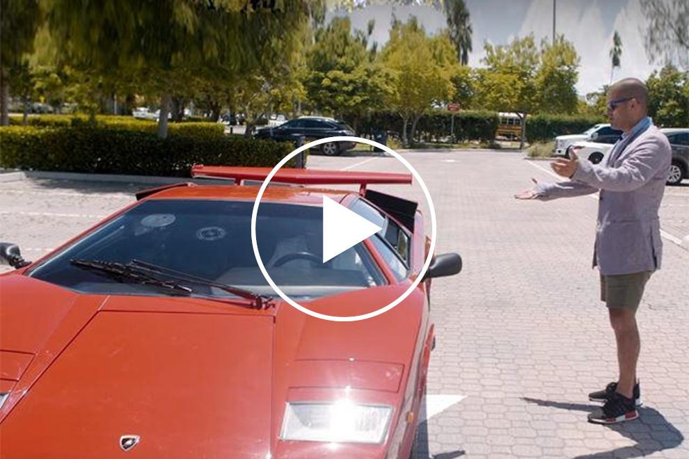 TIL the Lamborghini Countach's rear window is so tiny that ...  |Lamborghini Countach Reverse