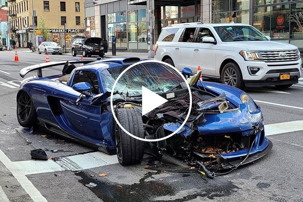 $780,000 Porsche Gemballa Mirage GT SMASHED Beyond Recognition