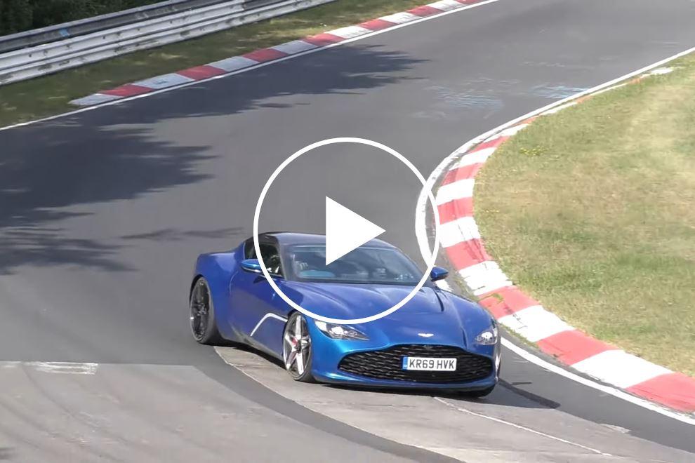 Rare Look At Aston Martin DBS GT Zagato On The Move